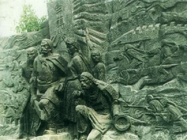 Bia tưởng niệm Vương Công Nhi.
